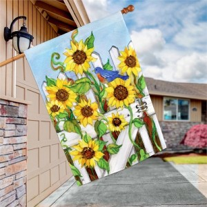 Sunflower Gate House Flag | Fall Flag | Autumn Flag | Garden House Flag