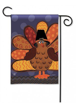 Tom Turkey Garden Flag | Thanksgiving Flags | Holiday Flags | Yard Flags