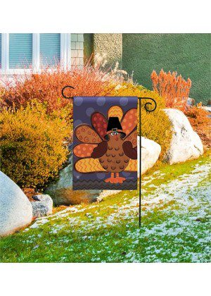 Tom Turkey Garden Flag | Thanksgiving Flags | Flag | Garden House Flags
