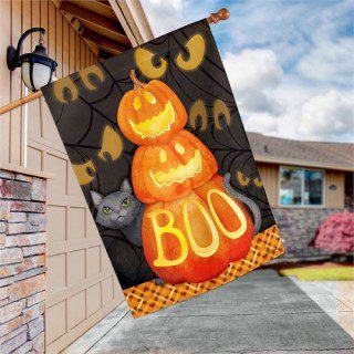 Who's There? House Flag | Halloween Flags | Flags | Garden House Flags