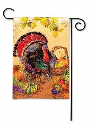 Wild Turkey Garden Flag | Thanksgiving Flags | Holiday Flags | Yard Flags