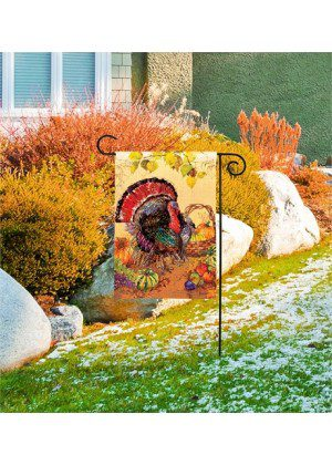Wild Turkey Garden Flag | Thanksgiving Flags | Garden House Flags