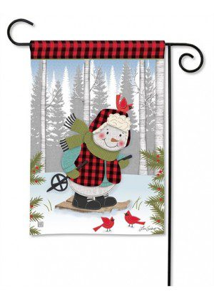Winter Fun Snowman Garden Flag | Winter Flags | Snowman Flags | Flags