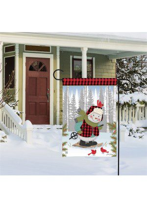 Winter Fun Snowman Garden Flag | Winters Flags | Garden House Flags
