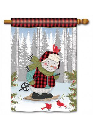 Winter Fun Snowman House Flag | Winter Flags | Snowman Flags | Flags