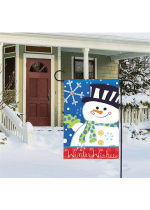 Winter Wishes Garden Flag | Winter Flags | Flags | Garden House Flags