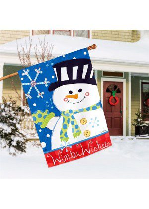Winter Wishes House Flag | Winter Flag | Cool Flag | Garden House Flags