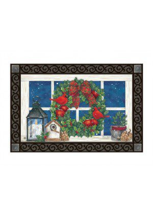 Wreath in the Window Doormat | MatMate | Doormat | Decorative Doormat