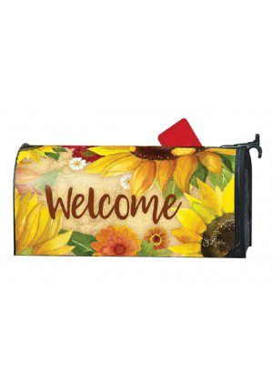 Yellow Sunflower Mailbox Cover | Decorative Mailwraps | Mailbox Covers