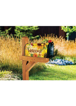 Yellow Sunflower Mailbox Cover | Mailwrap | Mailbox | Garden House Flags