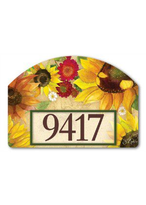 Yellow Sunflower Yard Sign | Address Plaques | Garden Decor | Yard Signs
