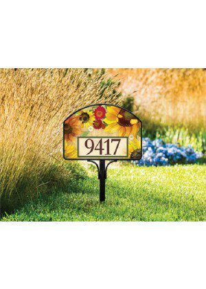 Yellow Sunflower Yard Sign | Address Plaques | Yard Sign