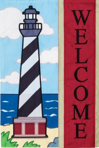 Applique Hatteras Flag | Applique Flags | Welcome Flags | Two Sided Flag