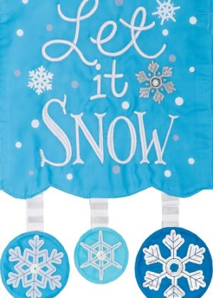 Applique Let it Snow Flag | Applique Flags | Winter Flags | Two-sided Flags