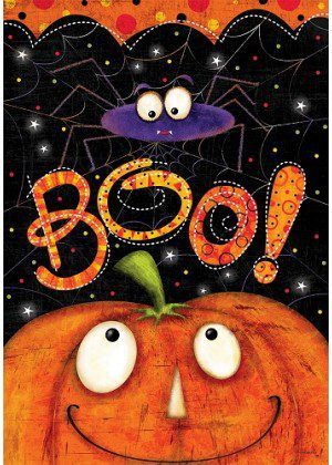 Boo Spider Flag | Fall Flags | Halloween Flags | Two-sided Flags | Flags