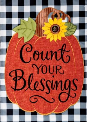 Count Your Blessings Applique Flag | Applique Flags | Fall Flags | Flags