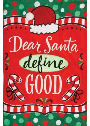 Dear Santa Applique Flag | Applique Flags | Christmas Flags | Cool Flags