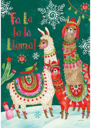 Fa La Llama Flag | Christmas Flags | Two-sided Flags | Animal Flags