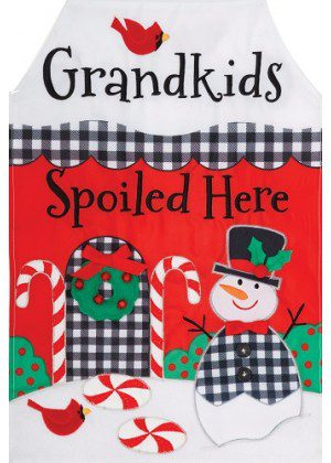 Grandkids Spoiled Applique Flag | Applique Flags | Christmas Flags | Flags