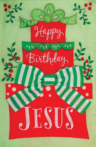 Happy Birthday Jesus Flag | Applique Flags | Christmas Flags | Cool Flags
