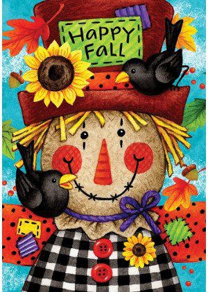 Happy Scarecrow Flag | Garden Flags | Fall Flags | Double Sided Flags