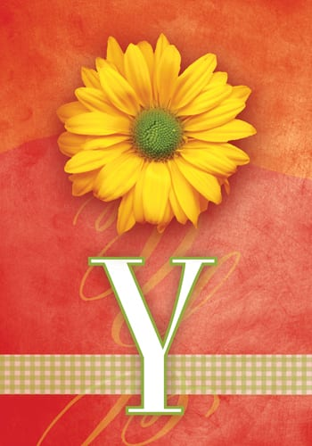 Monogram Yellow Daisy Flags