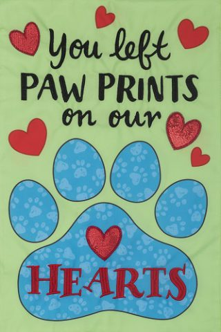 Paw Prints Flag | Applique Flags | Double Sided Flags | Inspirational Flags
