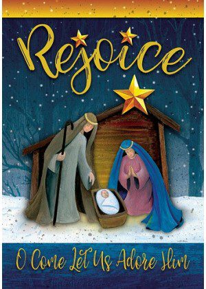 Rejoice Manger Flag   Christmas Flags   Two-sided Flags   Holiday Flags