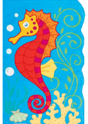Seahorse Flag | Applique Flags | Garden Flags | Nautical Flags
