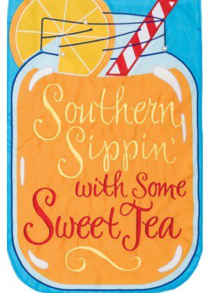 Southern Sippin' Flag | Applique Flag | Summer Flag | Double Sided Flags