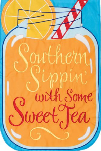 Southern Sippin' Flag | Applique Flag | Garden Flag | Garden House Flags