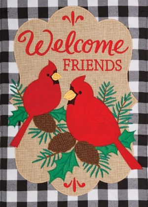 Welcome Cardinals Flag | Applique Flags | Flags | Garden House Flags