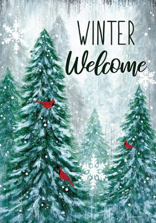 Winter Wonderland Flag | Winter Flag | Welcome Flag | Two-sided Flags