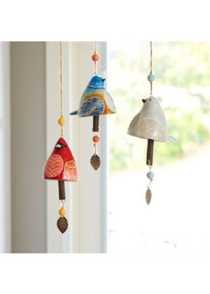 Hummingbird Ceramic Bell | Garden Bells | Decorative Bells | Ceramic Bells | Bells