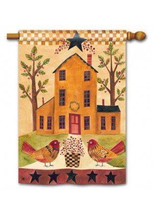 Bird Homestead House Flag | Fall Flag | Bird Flags | Yard Flags | Cool Flag