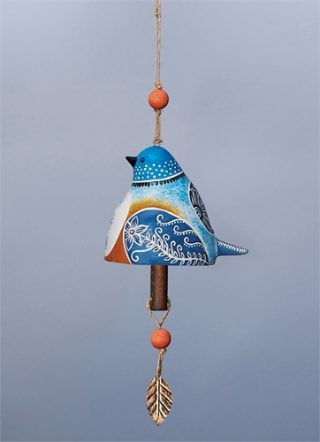 Bluebird Ceramic Bell | Bells | Decorative Bells | Garden House Flags
