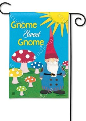 Gnome Sweet Gnome Garden Flag | Garden Flags | Garden House Flags