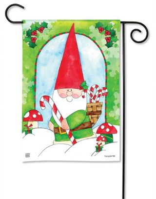 Gnome for the Holidays Garden Flag | Holiday Flags | Christmas Flags