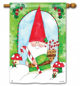 Gnome for the Holidays House Flag | Christmas Flag | Yard Flags | Flags