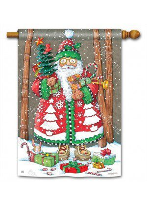 Jolly Santa House Flag | Christmas Flags | Holiday Flags | Yard Flags