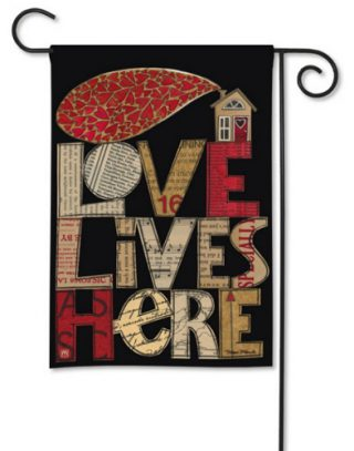 Love Lives Here Garden Flag | Valentine's Day Flags | Inspirational Flags