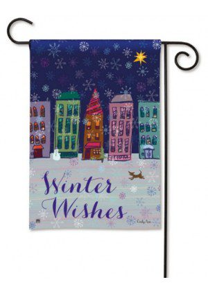 Main Street Magic Garden Flag | Winter Flag | Inspirational Flag | Yard Flag