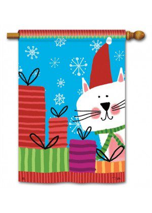 Meowy Christmas House Flag | Christmas Flag | Yard Flags | Cool Flags