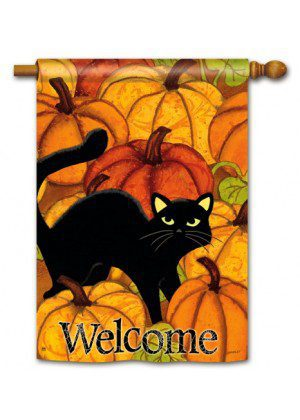 Pumpkin Patch Cat House Flag | Halloween Flags | Welcome Flags | Flags