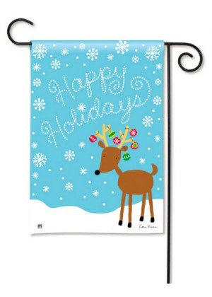 Reindeer Cheer Garden Flag | Christmas Flags | Holiday Flag | Yard Flags