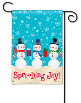 Spreading Joy Garden Flag | Christmas Flags | Snowman Flags | Yard Flag