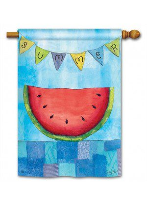 Summer Slice House Flag | Summer Flags | Yard Flags | Cool Flags