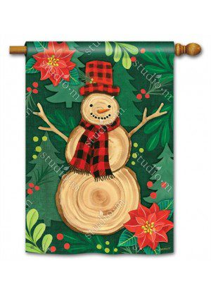 Woody House Flag | Christmas Flags | Holiday Flags | Winter Flags | Flags