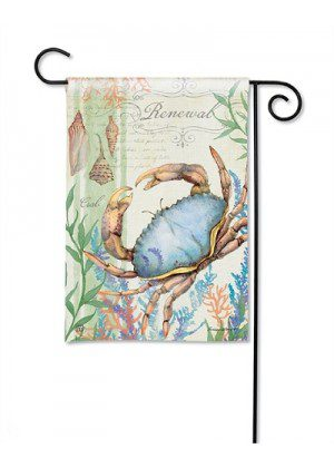 Atlantic Blue Crab Garden Flag | Beach Flags | Garden House Flags