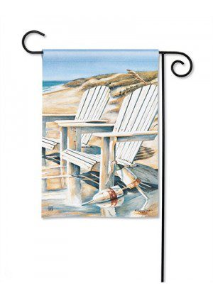 Beach Chairs Garden Flag | Summer Flags | Flags | Garden House Flags